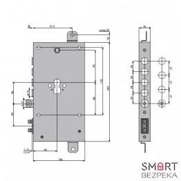 Электромоторный замок ISEO X1R (smart) - Фото № 5